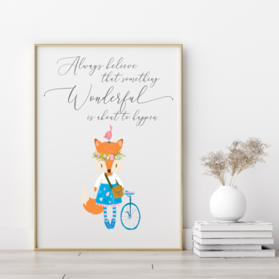 Always Believe Kid's Room Art Print