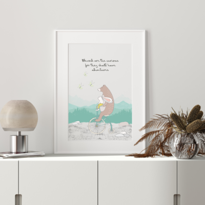 Blessed The Curious Art Print