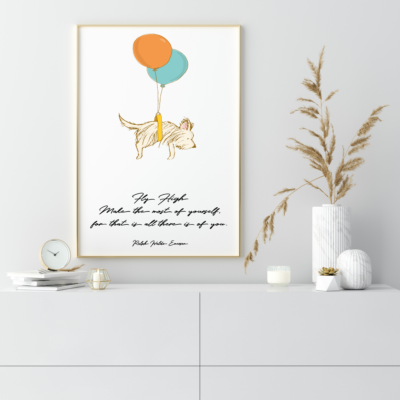 Fly High Kid's Room Art Print