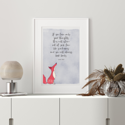 Shining Good Thoughts Art Print