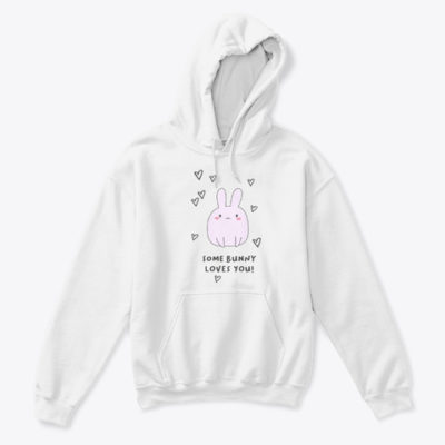 Some Bunny Loves You! Kids Classic Pullover Hoodie