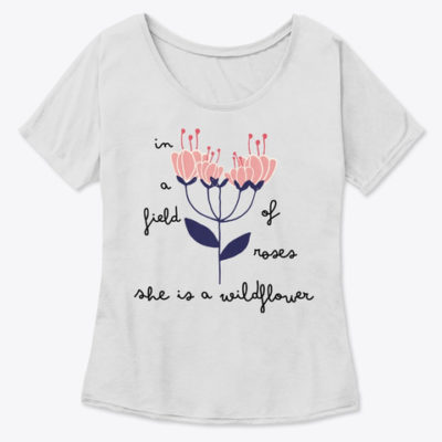 Wildflower Women Slouchy Tee