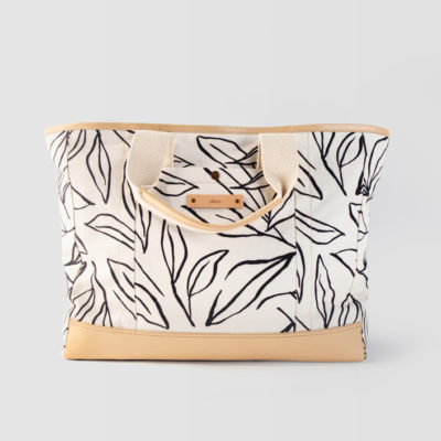 Ink Line Leaves Weekend Tote