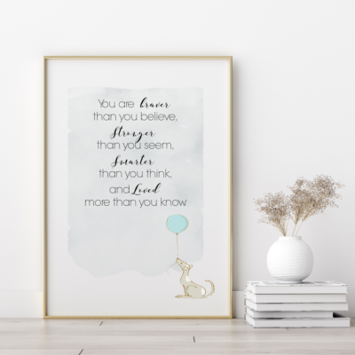 More than you know Nursery Art Print